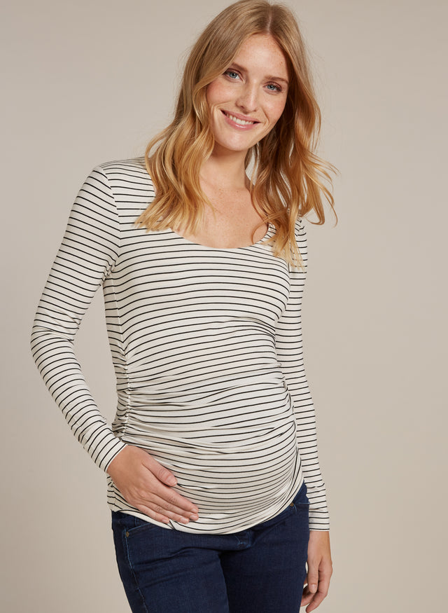 Jamie Stripe Maternity Top