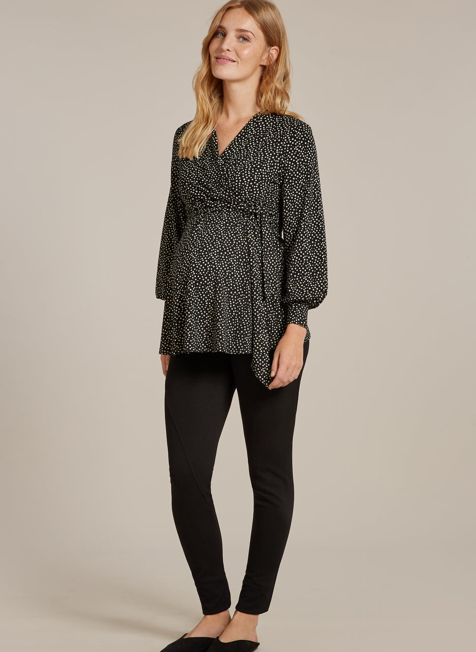 Danni Maternity Wrap Top