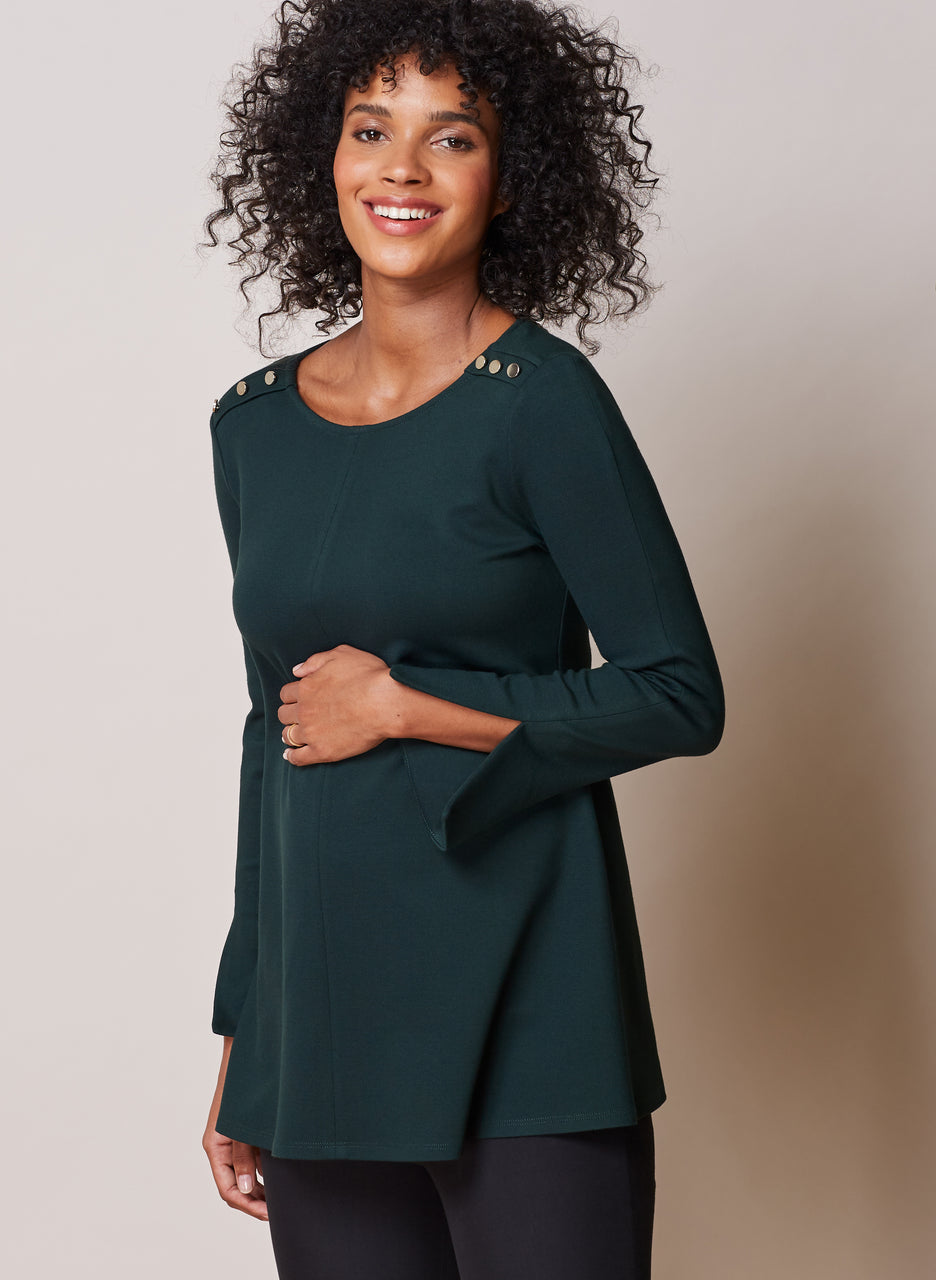 Paige Maternity Button Top