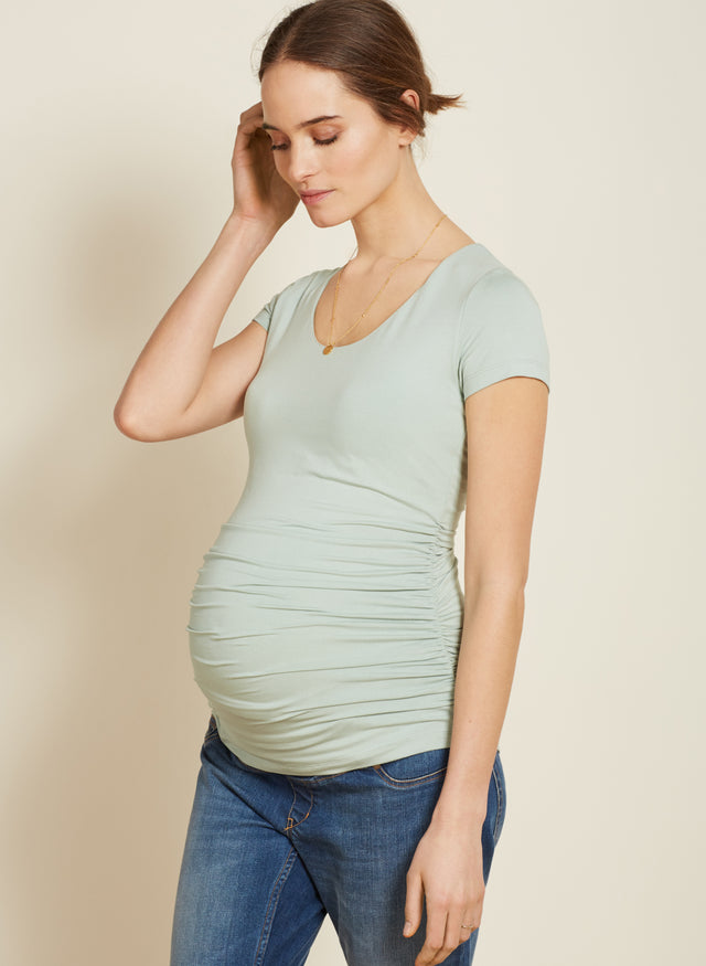Maternity Cap Scoop Top