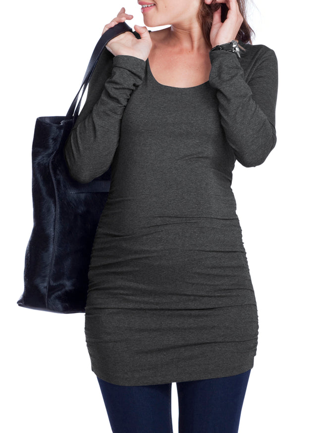Maternity Layering Scoop Top