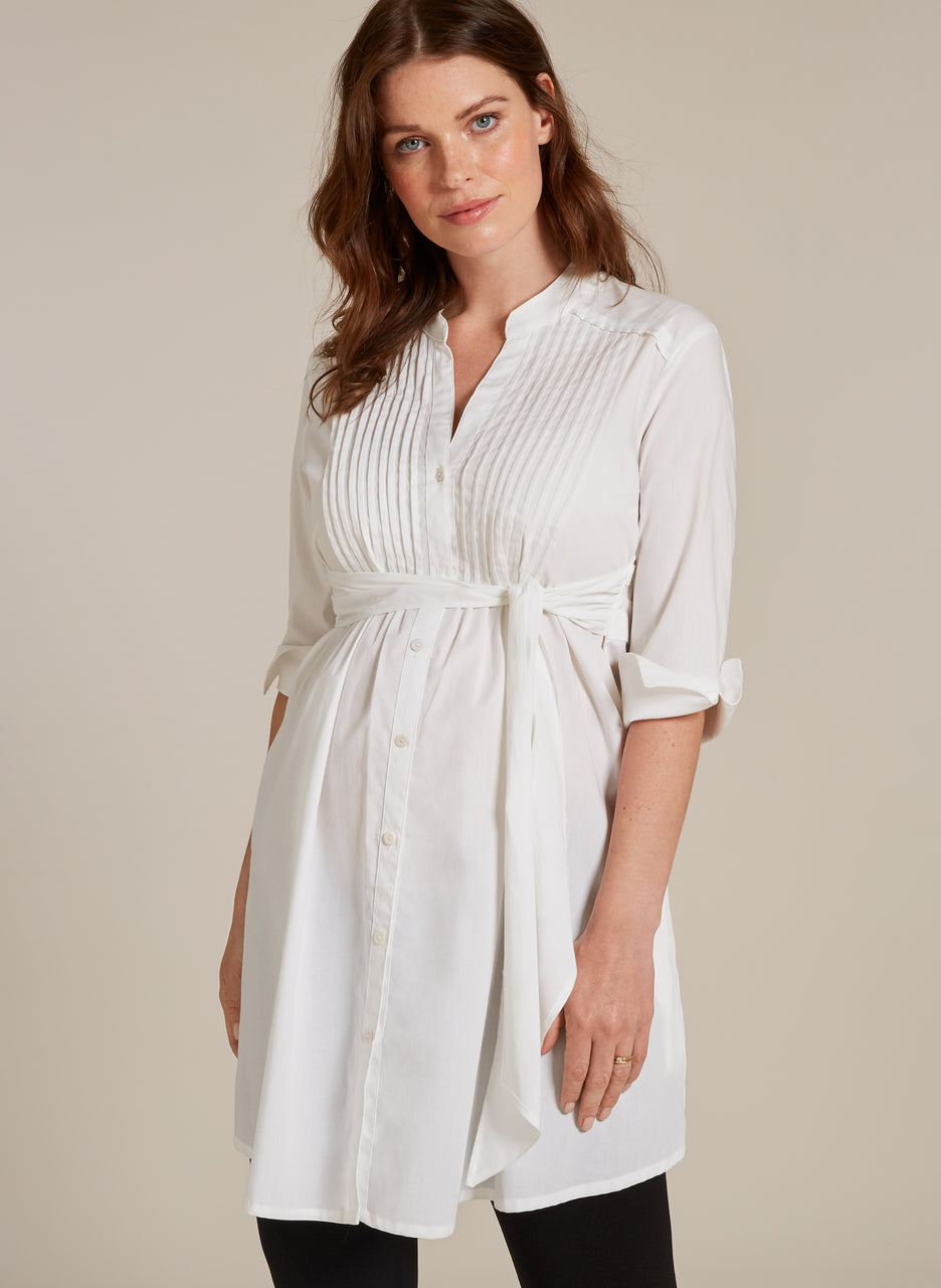 Libby Long Line Maternity Shirt