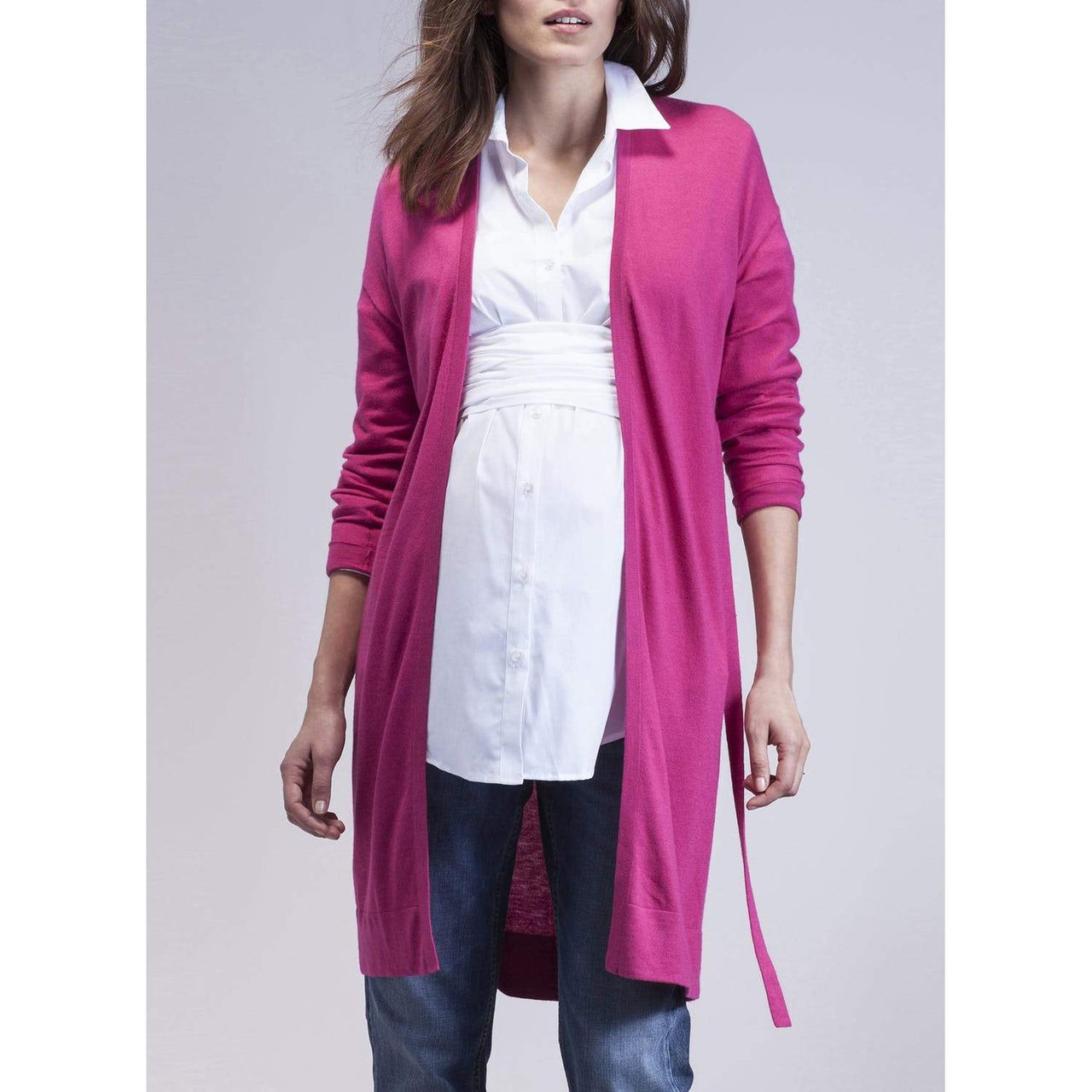 Franca Belted Maternity Cardigan