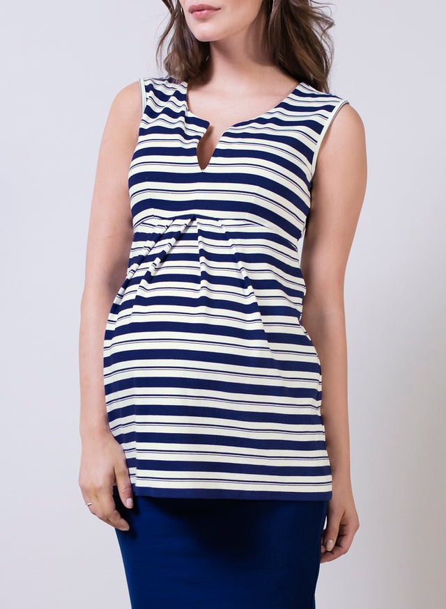 Imogen Striped Maternity Top