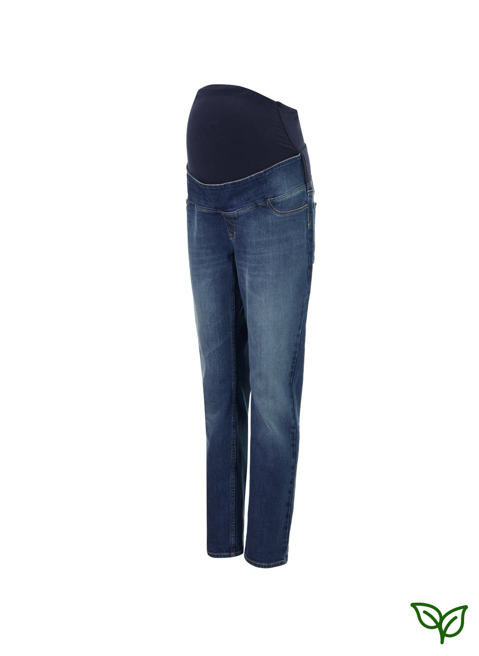 Over the bump Organic Maternity Boyfriend Jean