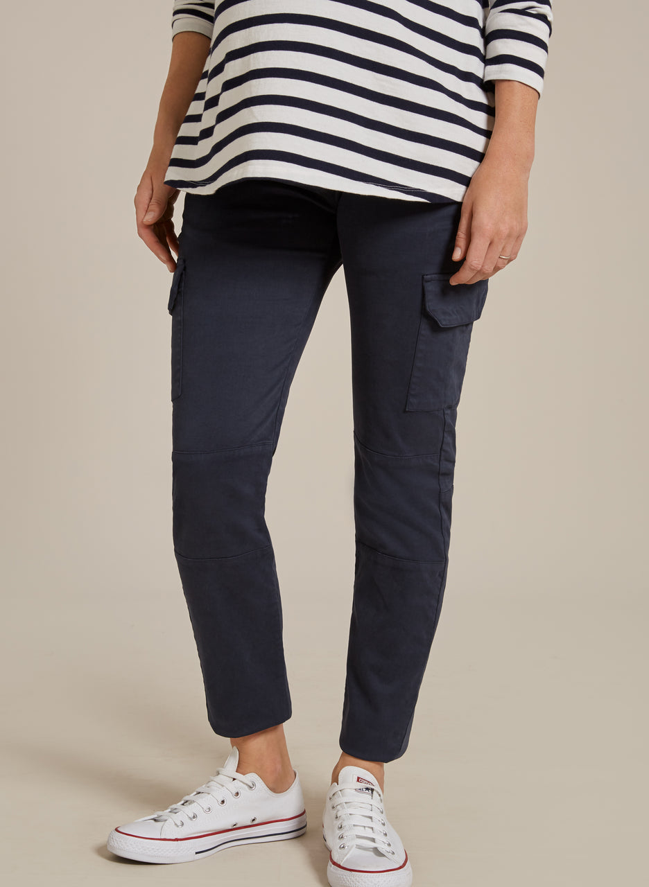 Stretch Maternity Cargo Pants