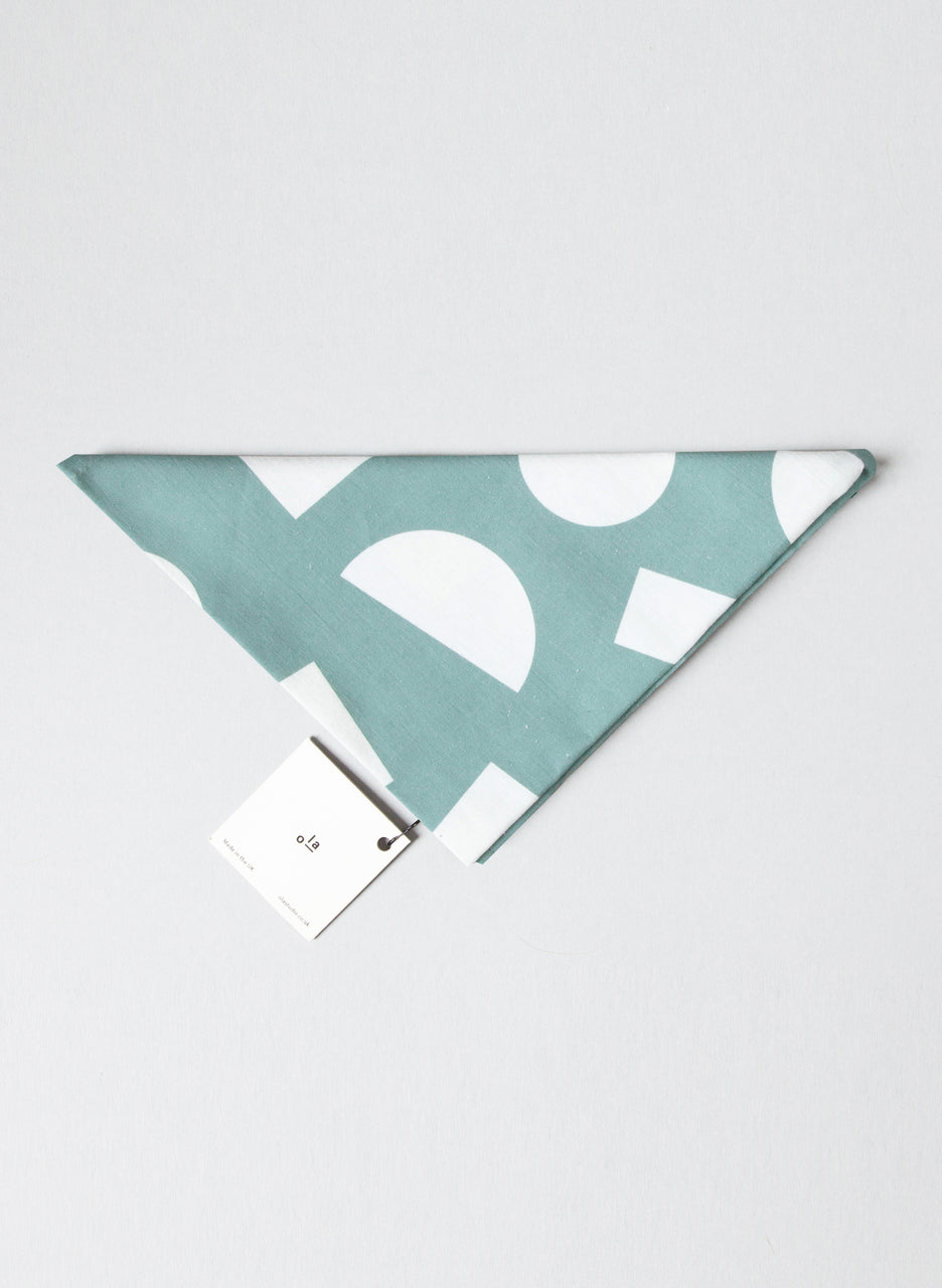 Ola Organic Cotton Turquoise Shapes Print Wrap
