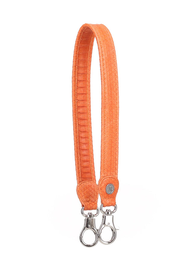 Python Skin Leather Strap (Orange)