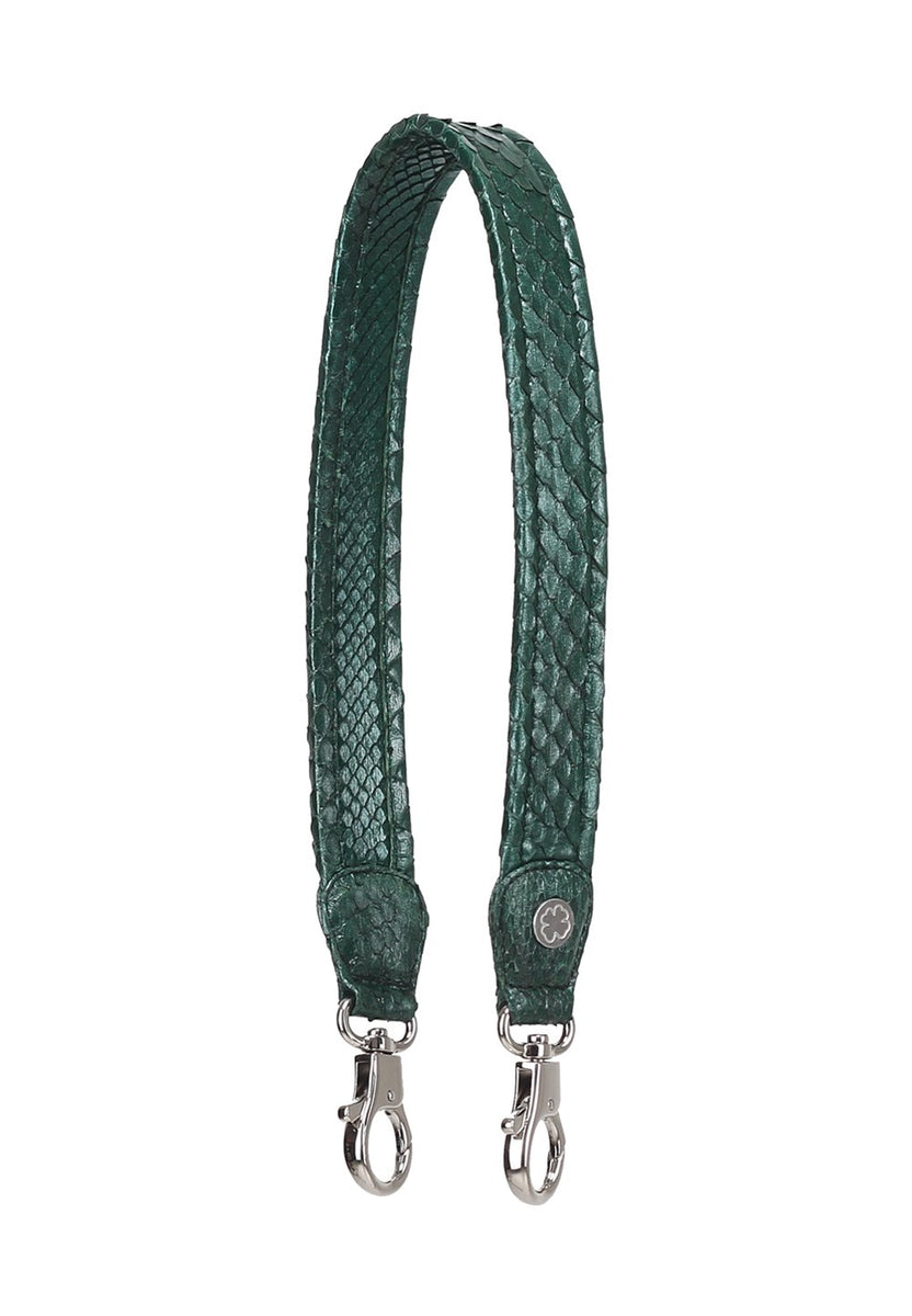 Limited Edition: Python Skin Leather Strap (Glitzy Emerald)