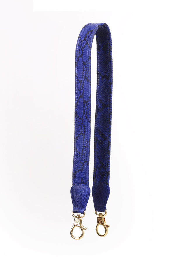 Ombre Python Skin Leather Strap (Blue Electric)