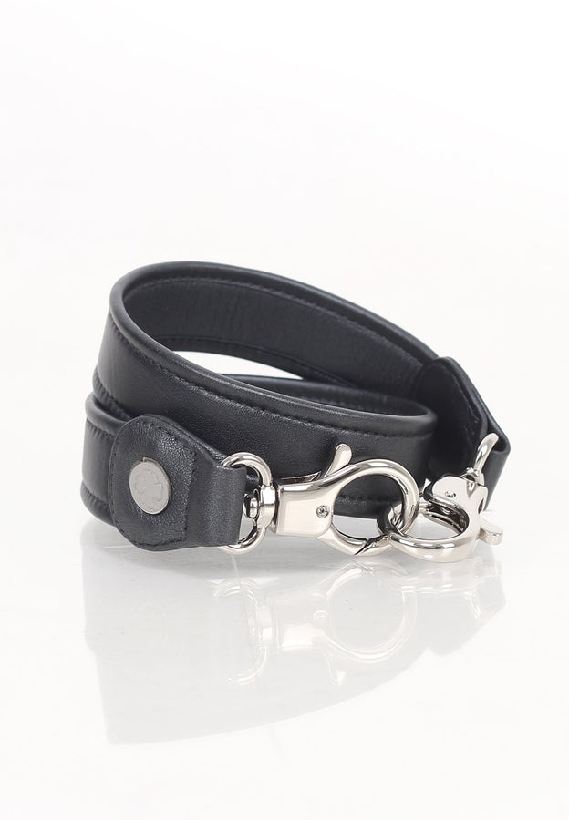 Lambskin Leather Strap (Grey Metallic)