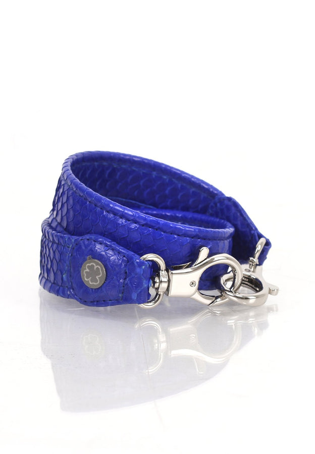 Python Skin Leather Strap (Royal Blue)