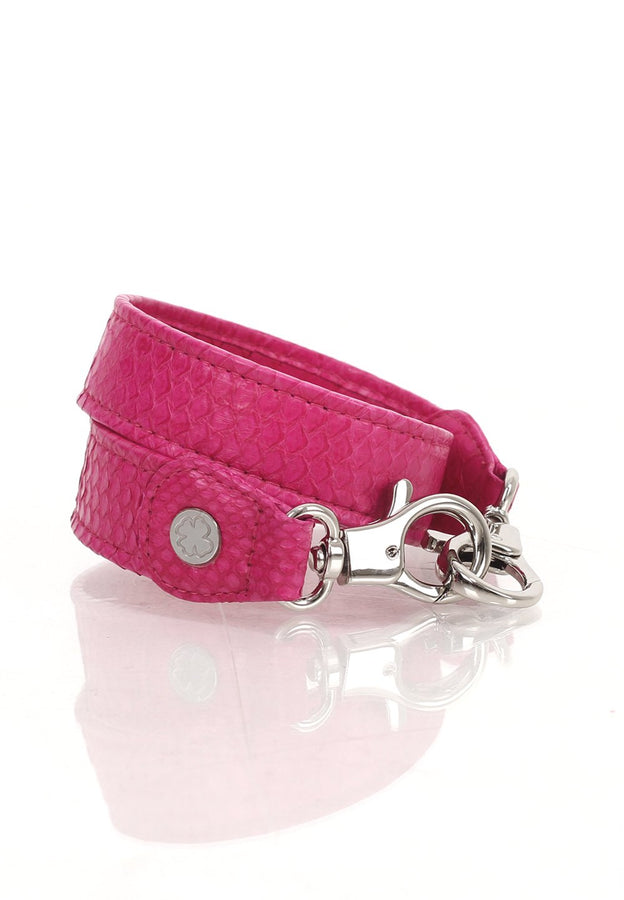 Python Skin Leather Strap (Magenta)