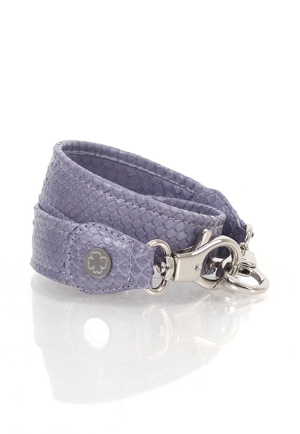 Python Skin Leather Strap (Grey Lavender)