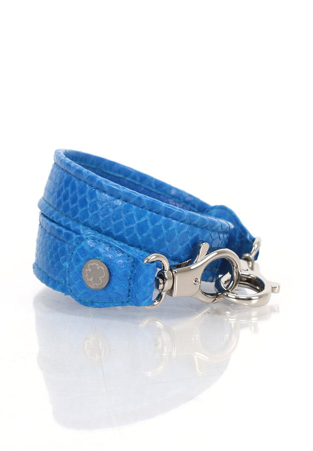 Python Skin Leather Strap (Brighton Blue)
