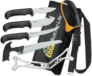 Outdoor Edge Butcher-Lite Lightweight 8-Piece Butcher Kit with Belt Scabbard