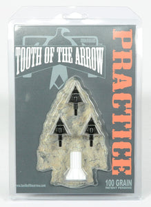 Tooth of the Arrow Broadheads - 3 Pack - True Single Piece Machined from Solid Carbon Steel Bar - 100% U.S.A. Made - 85 Grain Practice