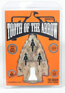 Tooth of the Arrow Broadheads (3 Pack), Black, 125 Grain