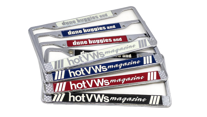 Hot VWs Magazine Metal License Frame (single - 1 frame)