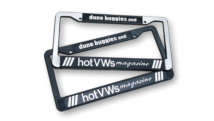 Hot VWs Magazine Plastic License Frames (1 pair - 2 frames)
