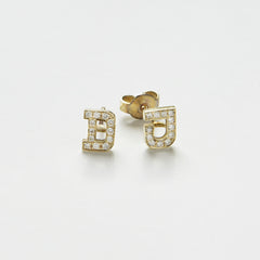 Earrings Letter & Brilliants
