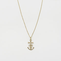 Necklace & Cross, Heart and Anchor