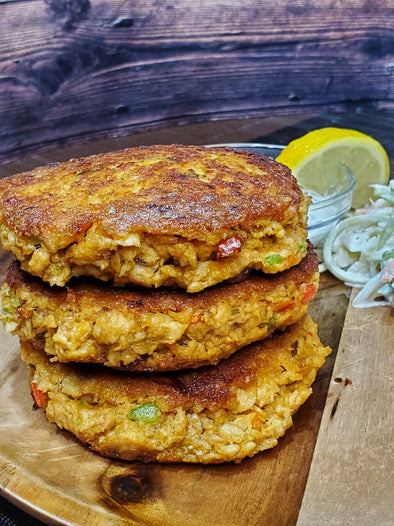 Salmon Patties by @ketobrawn