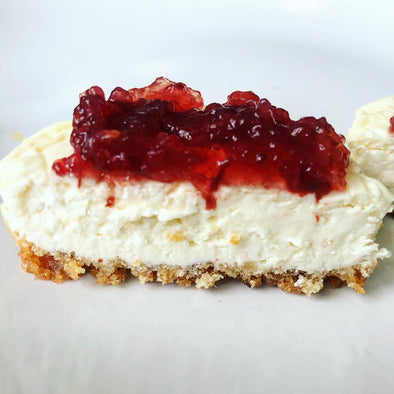 Mini Low Carb Cheesecake with Pork King Good Pork Rind Crumb Crust by Megan O'Brien