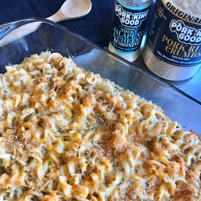 Pork King Good Low Carb Baked Smoky Jalapeno Mac and Cheese