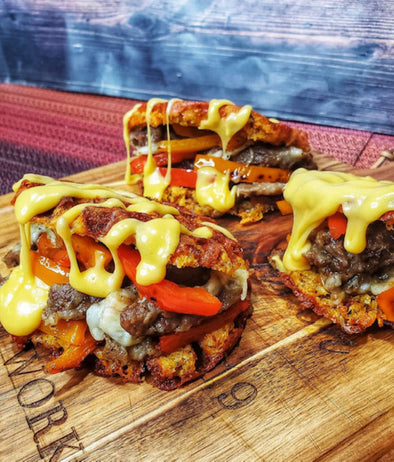 Steak and Pepper Stuffed Paffle ( @ketobrawn )
