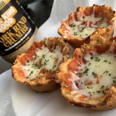 Pork King Good Pork Rind Crumb Keto Pizza Cups