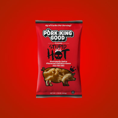 Pork King Good Stupid Hot World's Hottest Pork Rind