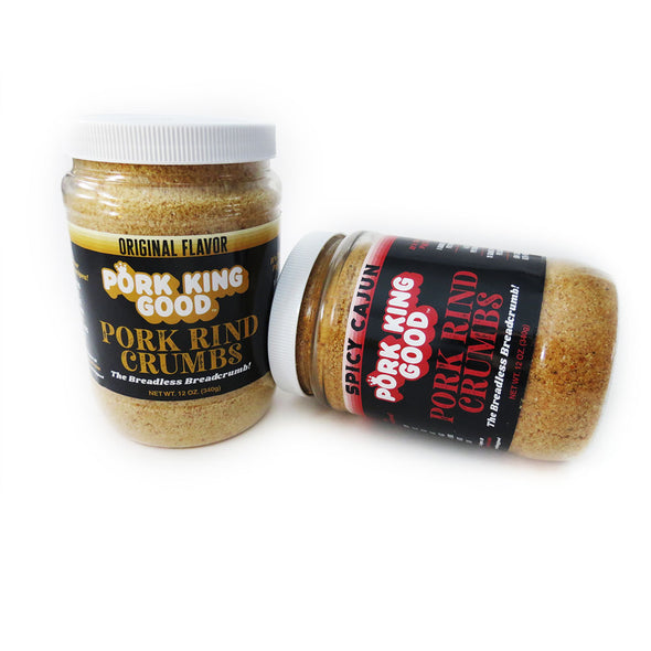 Pork King Good Pork Rind Bread Crumb Jars