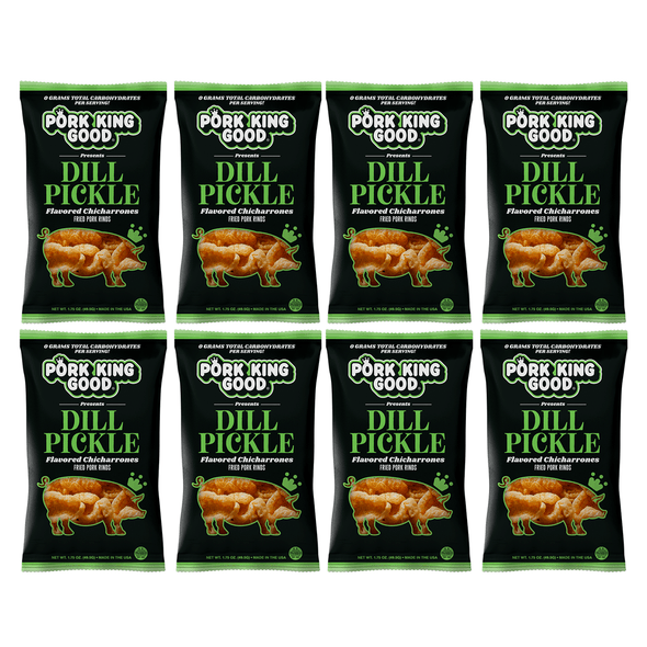Pork King Good Dill Pickle Pork Rinds - Pork King Good