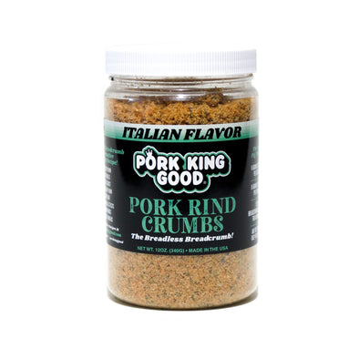 Pork King Good Pork Rind Crumbs Italian Flavor - Pork King Good