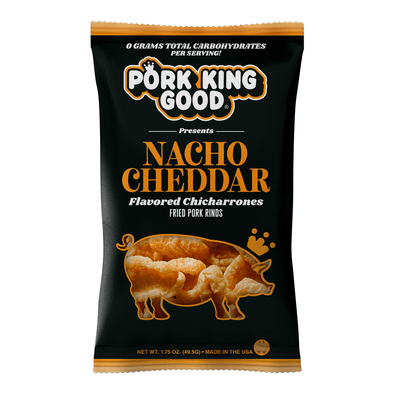 Pork King Good Nacho Cheddar Pork Rinds - Pork King Good