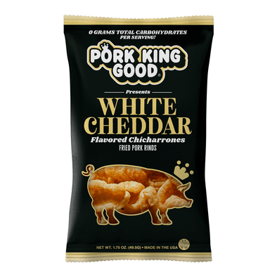 Pork King Good White Cheddar Pork Rinds - Pork King Good