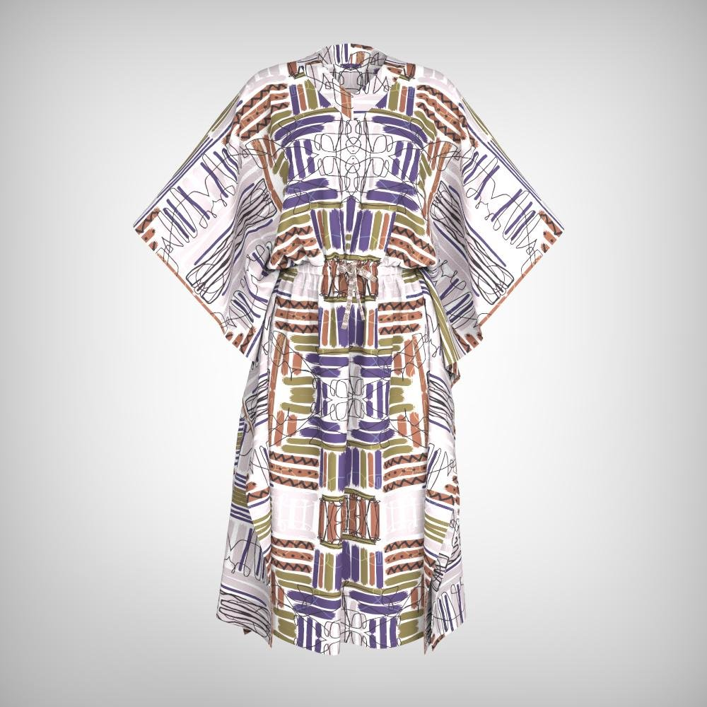 SEYI SILK KAFTAN DRESS