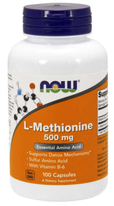 L-Methionine 500mg capsules