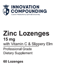 Load image into Gallery viewer, Zinc 15mg Lozenges w/ Vitamin C and Slippery Elm