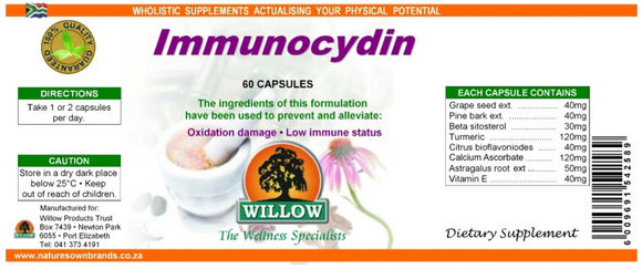 Willow Immunocydin 60 Capsules