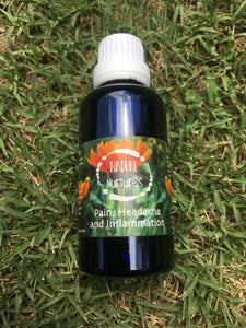 Nature Nurtures Pain, Headache and Inflammation Tincture 50ml