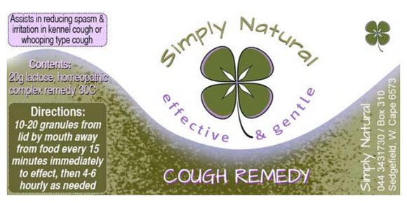 Simply Natural Cough Remedy 20g