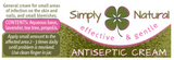Simply Natural Antiseptic Cream 25g