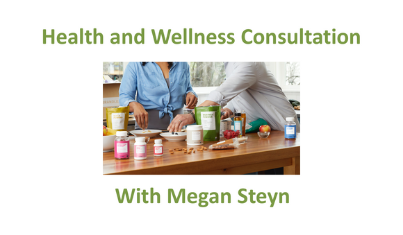 Consultation - Health and Wellness with Megan Steyn