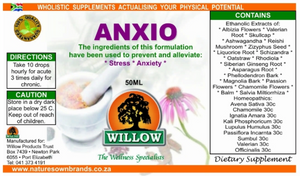 Willow Anxio tincture 50ml