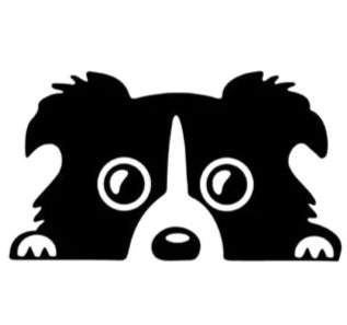 "Image of Close up view of ""Peeking Puppy"" Dog Car Decal."