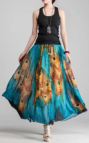 Women's boho convertible dress/skirt worn in skirt.
