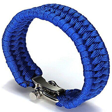 Image of Front view of Blue Paracord Bracelet With No Slip Clasp