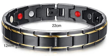 A closer view of Vintage Bohemian Punk Tungsten and Titanium Steel Chain Bracelet for men